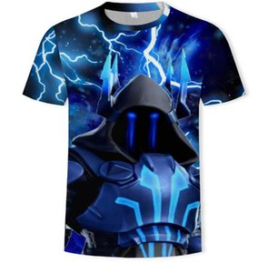 2019 summer new fortress night 3D printing T-shirt hip hop men's tide  clothing
