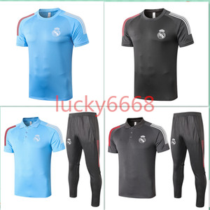 2020 adult tracksuit Real Madrid Short sleeve polo shirt soccer training suit 20 21 MODRIC MARCELO ASENSIO ISCO football shirt kit