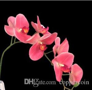 süslemeleri çiçekler 7 bifucates 3D baskılı kelebek simülasyon yapay ev düğün sahte çiçek insan yapımı çiçek nakliye damla