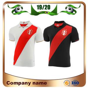 2019 Copa América Peru Camisa de Futebol 19/20 Peru Casa Branco Fora Preto Camisa Nacional de Futebol Equipe GUERRERO FARFAN FLORES Uniforme de futebol