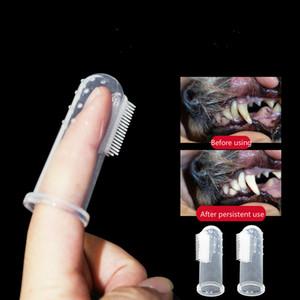 Super Soft Pet Finger Зубная щетка Teddy Собака неприятный запах изо рта Зубной камень Зубы Инструмент лучший подарок для домашних животных Хорошее качество