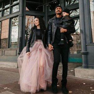 2020 топ очаровательная пыльно-розовая высокая сторона Сплит тюль юбки женщины пухлые a-line длинная юбка-пачка эластичная на заказ