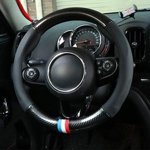 BMW MINI 쿠퍼 S F54의 F55의 F56의 F60 R55 R56 R60 자동차 스타일링 액세서리 탄소 섬유 스티어링 휠 커버 38CM 보호 케이스