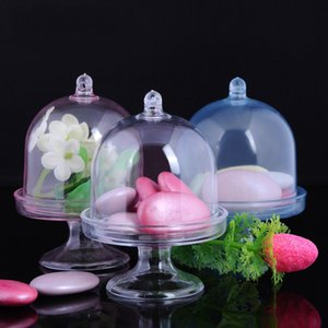 Duche aniversário 12pcs / Lot Wedding Candy Caixa de plástico transparente caixa de bandeja bebê condicionada presente Início Party Supplies C1119