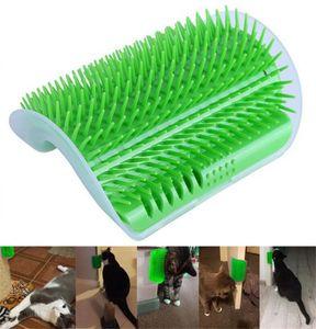Nuevo Inicio Productos para gatos Cepillo Cat Corner auto masaje Groomer del peine del cepillo con la hierba gatera gato se frota la cara con un peine de las cosquillas