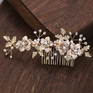 Le Liin Bride Crystal Flower Hair Comb Bridal Headdress Wedding Hair Accessories