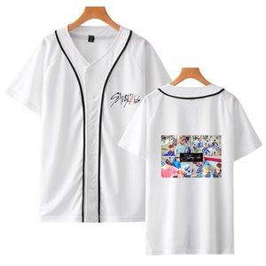 беспризорные дети с коротким рукавом рубашки бейсбола стиль Женщины / Мужчины колледжа Комфортное лето весна новый стиль Пара износ 2019