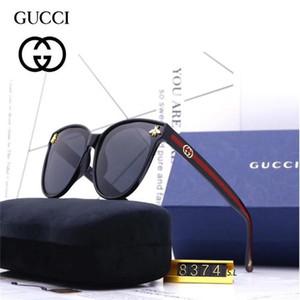 2020 럭셔리 패션 디자이너 남성 여성 유리 렌즈 UV 보호 선글라스 (101)의 경우 대형 금속 태양 안경