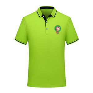 2020 Marocco squadra nazionale di calcio Polo calcio manica corta polo Allenamento Polos Polos Calcio Calcio T-shirt Jersey Uomo