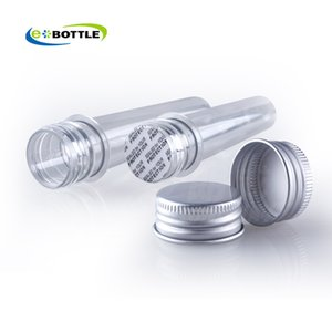 New 200 x 40ml mask bath salt test PET tube with aluminum cap,40cc clear plastic cosmetic tube,Cosmetic Packaging