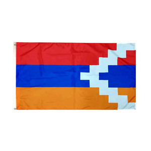 3x5ft Bandeira de Artsakh preço barato Publicidade Digital impresso tecido de poliéster, Outdoor Uso Indoor, transporte da gota