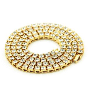 New iced out chains For Men Rhinestone Designer Gold Hip Hop Necklace Mens Hip hop bling chains jewelry men Cuban link Stainless steel