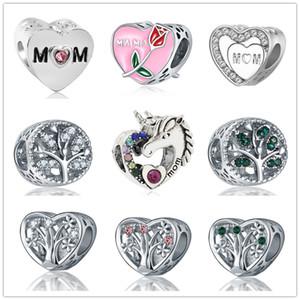 più nuovi liberi di trasporto MOQ20pcs europea regalo di giorno la mamma di famiglia albero mamma Fai da te Bead della madre argento D073 braccialetto di fascino misura Pandora