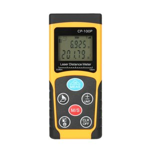 10pcs 100 m Portable Handheld Digital Laser Distance Meter High Precision Range + battery