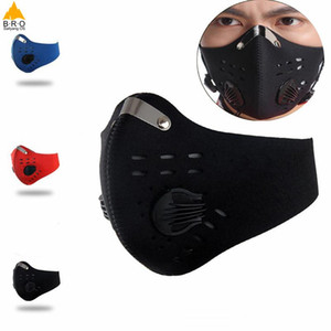 Activated Carbon Dust-proof Cycling Face Mask Men Women Anti-Pollution training Bicycle Bike Outdoor Running mask face shield Masks