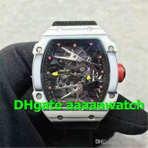 2020 New Luxury Men Watch 027 02 Watch Swiss 2824 Automatic PVD plated solid 316L stainless steel case Tourbillon Skeleton Dial Canvas Strap