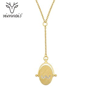 Collar largo pendiente color viennois New Gold circón joyería para las mujeres 2020