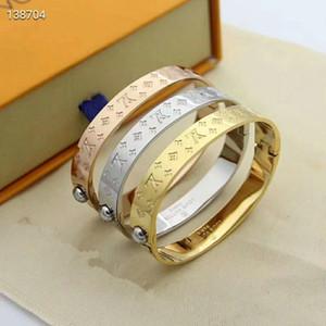 Top Qualität Monogramm Schmuck-Liebhaber der neue Ankunfts-Größe 5.7X4.9CM Top-Qualität Gold / Silber / Rose Gold-Monogramm-Armband-Schwarz-Gold überzogenes Armband