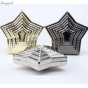 Recommend Fashion Star Plain Shape Metal Plated Mini Wedding Party Clutch Evening Bag Handbag Shoulder Bag Messenger Bag Lady Wallet