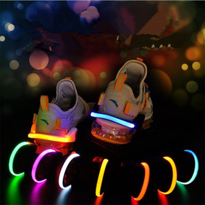 Led Night Safety Warning Shoe Clip Running Cycling دراجة Flash Light Tool LED Luminous Kids T9I00287
