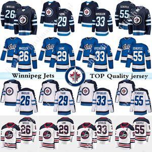 Hombres Winnipeg Jets Jersey 29 Patrik Laine Jersey 26 Blake Wheeler 33 Dustin Byfu Glien 55 Mark Scheifele Hockey Jerseys