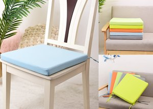 Waterproof Cushion Colorful Chair Cushion 40x40cm Seat Cushion Pad Winter Office Bar Buttock Pillow Home Office Decoration