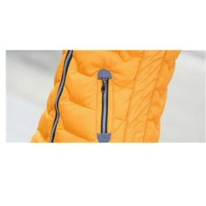Winter 2020 Vest Women Waistcoat Female Sleeveless Jacket Hooded Warm Long Vest Colete Slim Coats Outerwear Plus Size 5XL YFY689