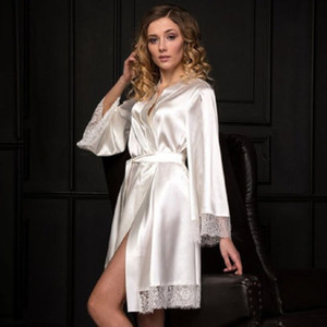 Meihuida 2020 새로운 섹시한 란제리 여성 실크 레이스 가운 드레스 베이비 돌 잠옷 잠옷 기모노 봄 가운