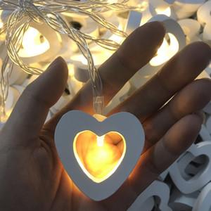 축제 조명 장식 휴일을 매달려, 문자열 조명 크리스마스 장식을 LED 1.5M 10LED 나무 심장 모양의 흰색 따뜻한