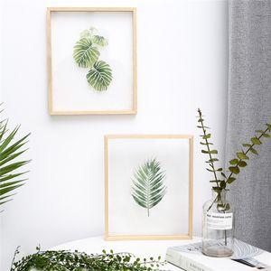 INS substituível pintura acrílica transparente com quadro de madeira creativo pintura pendurada moderno para sala ou quarto deco