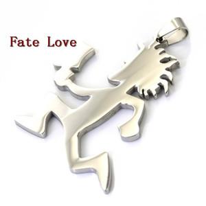 El destino Amor 5 x mucho grande de 2 pulgadas Hatchetman encanto ICP Hacha Hombre colgante Juggalo acero inoxidable del grado del colgante de plata