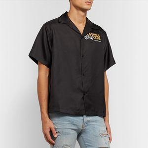 20 Andys Стиль шелковой рубашки PlayerClub Limited Вышивка атласной рубашка Мода Мужская и Женская Пара футболка HFWPTX443