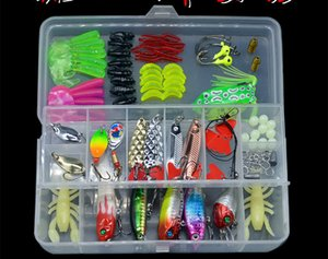 Fishing Lure Kit 109 Pieces Set Minnow Spoons Popper Crank VIB Pencil Worm Frog Metal Bait Hook Tackle Accessories