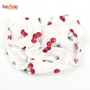 Newborn Baby Summer Cherry Ruffle Bloomers Little Girl Cotton Diaper Cover Toddler Lipstick Shorts Infant Clothing