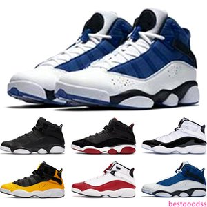 New 6 Rings Mens Basketball Shoes Bred Concord Matte Silver Taxi White University Red Men Trainers Sports Sneakers Size 7-13 Free Shipping