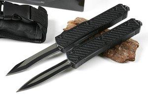MTatuoTF petit Makora drapeau américain double action D / E lame de chasse Couteau de poche pliant couteau de survie de Noël cadeau Adfaca pour les hommes 1pcs
