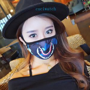 La máscara fresca del camuflaje de la máscara de impresión Polvo Prevención de la cara de algodón puede ser reciclado usa máscara de Protect Máscaras Family Health