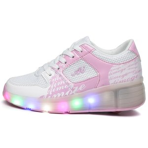 Rolo Eur27-37 Heelys Jazzy Júnior Girlsboys LED Light Shoes Skate para Childrenkids tênis com rodas