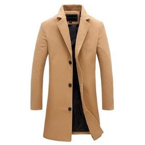 Designer Homens Trench Coats Jackets Men fino que cabe Coats para homens de negócios Mens longo inverno à prova de vento Outwears Plus Size Tops 5XL Preto