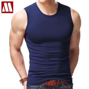 2020 Men's Tank Tops, Fashion summer style Sleeveless Undershirts, Male Bodybuilding Tank Top, Casual Cotton Man Vest Tops S~XXL CX200603