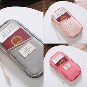 kTxkB id ticket passport bag multi-functional overseas travel cotton certificate bag women's multi-card position passport holder machine ti