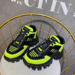 Designer Cloudbust Donner Herren Schuhe In Neongrün Knit Fashion Weiseluxuxfrauen Freizeitschuhe 2020 Triples luxe Chaussures Gummisohle Turnschuhe