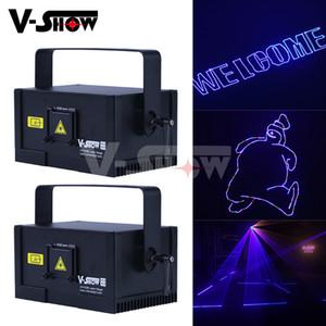 Europa Stock BEST 1W RGB DMX Controle Animação Laser Satge Light Programable Laser Projetor DJ Luz Para Bar Disco DJ