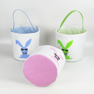 토끼 부대 부활절 활 색안경 동물성 인쇄 바구니 저장 화포 사탕 부대 가정 당 11yp UU9