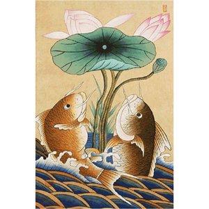 5d Diamond Embroidery pattern DIY Diamond Paintings cross stitch Lotus pond carp Handmade Rhinestone pasted painting decor