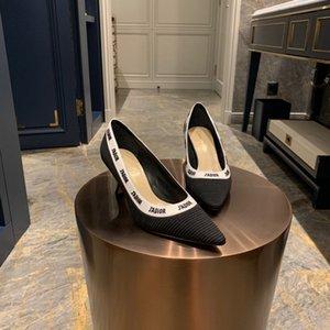새로운 스타일의 첨점 여성의 높은 굽 신발 얕은 슬림 굽 나이트 클럽 단일 신발 030401
