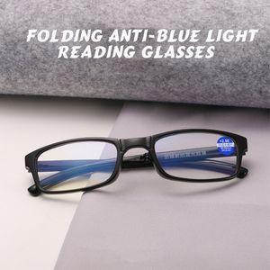Unisex MINI Lepard Folding Reading Glasses Eyeglass With Case +1.0 +1.5 +2.0 +2.5 +3.0 +3.5 +4.0 Women Men Eyewear Y0802