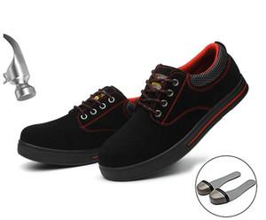 Herrensicherheitsschuhe mit Stahlkappe Bau Schutz Schuhe Leichte Stoß- Arbeit Sneaker Schuhe für Männer Frauen