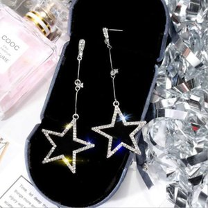 E0001# New York Designer Earrings Fashion Crystal Drop Earrings with Logo Big Diamond Alloy Jewelries Cheap Famous Designer Jewelries Women
