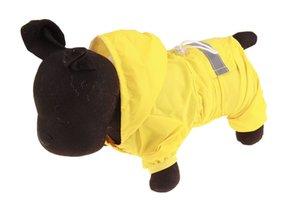 10PCS all'ingrosso Moda Pet striscia riflettente impermeabile del cane poliestere impermeabile pioggia Poncho Pet Dog Rain Jacket Rosso Colore Blu